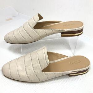 Michael Kors Natasha Slide Embossed Croc Leather